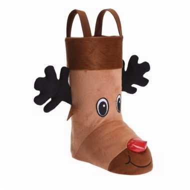 Cadeauzak kerstsok schoen 3d rendier