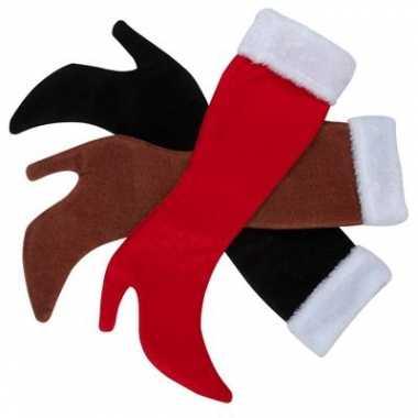 Dameslaars kerstsokken zwart