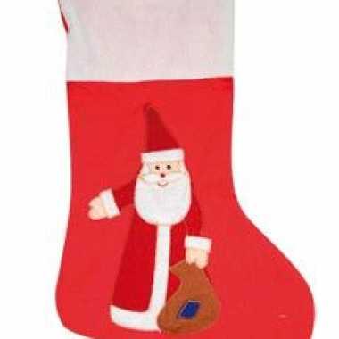 Grootverpakking rode kerstsokken met kerstman 3x