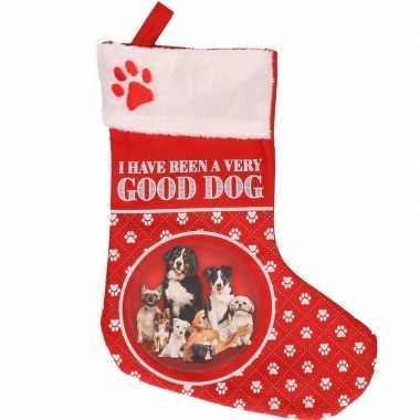Honden kerstsokken i have been a very good dog 37 cm