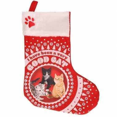 Katten/poezen kerstsokken i have been a very good cat