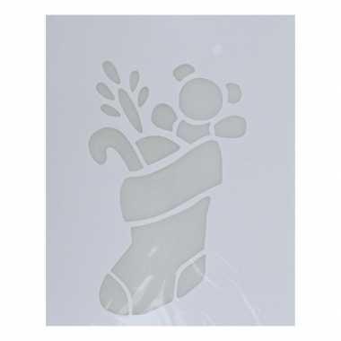 Kerst raamsjabloon kerstsok 35 cm