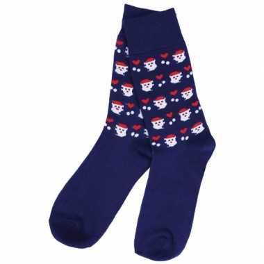 Kerstmis sokken blauw