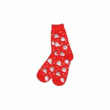 Kerstmis sokken rood