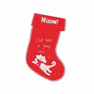 Kerstsok miaow! voor katten