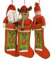 Luxe kerstsok met kerstman 80 cm